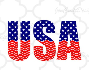 American flag USA svg, USA monogram frames, 4th of July svg, Memorial Day Cricut Silhouette, Die Cut Machines. Svg, Dxf, Eps, Png, Ai, Jpg