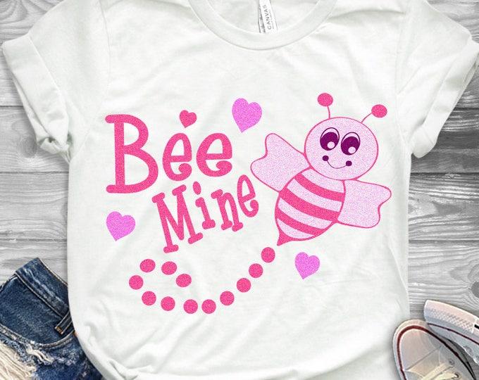 Bee Mine Valentine Svg, Valentine Svg,Bee Svg,DXF, EPS, Png, Valentines day svg, Bee Mine svg, Valentines svg Cricut, Silhouette