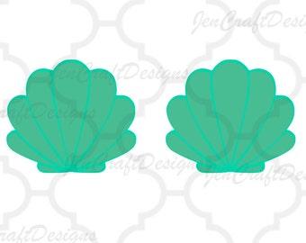Mermaid Shells SVG, Mermaid Svg Dxf Eps, png, jpg Cricut Design Space,   Silhouette, Vector Digital Cut Files, Instant Download