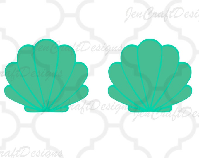 Mermaid Shells SVG, Mermaid Svg Dxf Eps, png, jpg Cricut Design Space,   Silhouette, Vector Digital Cut Files, Instant Download