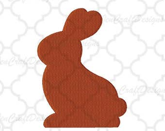 Easter Chocolate Bunny Embroidery Design, Easter Instant Download digital file in PES, EXP, VIP, Hus, Xxx and Jef