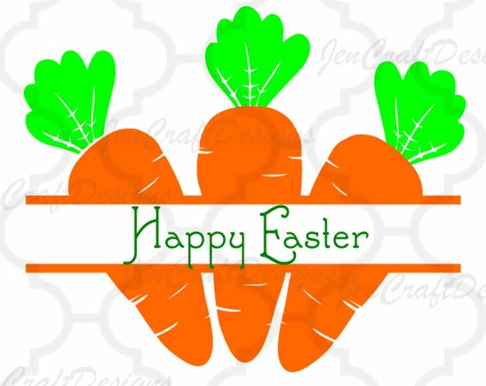 Split Monogram svg Easter Carrots,SVG,DXF,EPS,Png, Spring, Bunny, Easter Basket Monogram Frames Svg, digital download Silhouette Cricut