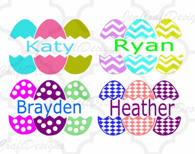 Split Easter Eggs,SVG,DXF,EPS,Png, Vector, Spring, Bunny, Easter Basket Monogram Frames Svg, digital download Silhouette Cricut