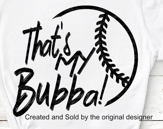 Baseball SVG, That's my Bubba Biggest Fan svg, Original Brother Biggest Fan, Softball Fan shirt design, Baseball cut file, sis, sister shirt