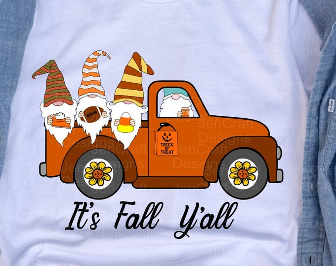 Gnomes Truck svg Fall gnomes svg Thanksgiving truck svg, Autumn fall svg,  Eps, Dxf, Png cricut, silhouette cut file