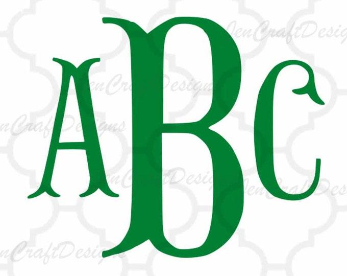 Fishtail svg Fish Hook Monogram font, monogram svg monogram letters, alphabet svg files, SVG, eps, Dxf, Cut files Cricut, Silhouette