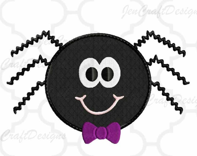 Halloween Spider Embroidery Design, Trick or Treat, Ghoul Instant Download digital file in PES, EXP, VIP, Hus, Xxx and Jef