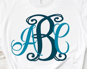Exclusive Curly Locking Monogram Alphabet svg Upper & Lower Cutting File- SVG EPS Dxf Cut Files A-Z Alphabet Shilhouette and Cricut Ds