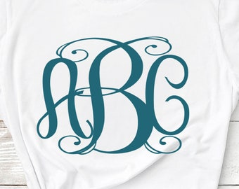 Exclusive Classy locking Monogram Alphabet svg Upper & Lower Cutting File- SVG EPS Dxf Cut Files A-Z Alphabet Shilhouette and Cricut Ds