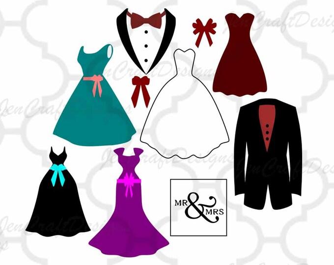 Bride and Groom svg Wedding Party, Bridesmaid SVG, DXF, eps, png Files Cutting Machines Cameo, Cricut Bride svg, Bridesmaid svg, Printable