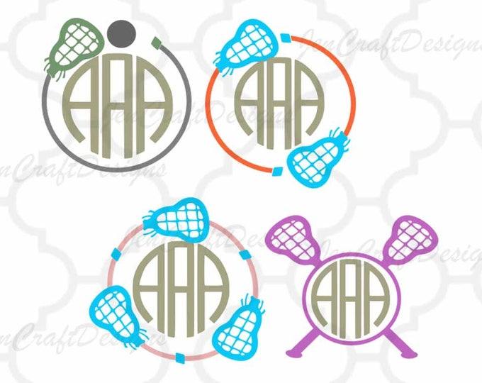Lacrosse SVG, Lacrosse Monogram svg, LAX svg, Cricut, Silhouette,Cut File, Clipart SVG, Eps, Dxf, Png, Sports