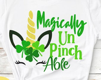 St. Paddys UnPinchAble, School, No Pinching svg, St Patricks Day svg, Unicorn svg, Shamrock svg, Cricut, Silhouette, digital SVG, DXF, PNG