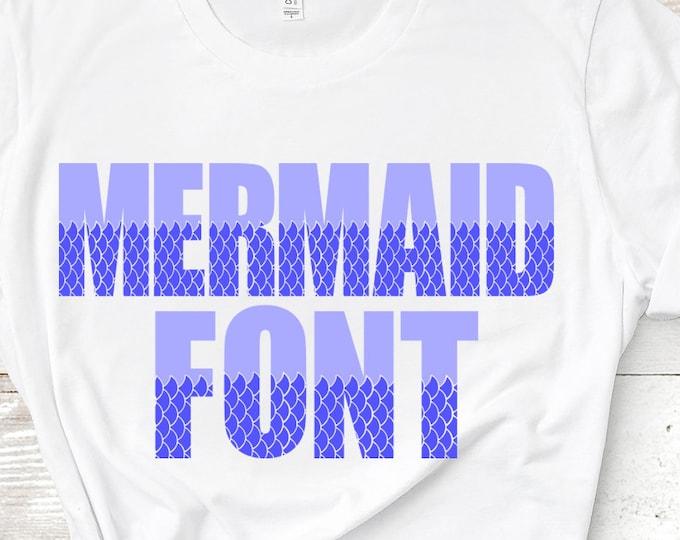 Mermaid Font SVG Fish Scales Sea Alphabet Svg/Dxf/Eps/Png Cricut Design Space, Silhouette, Digital Cut Files, Instant Download