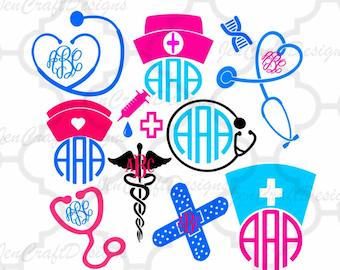 Nurse SVG Stethoscope SVG Nursing life Svg RN svg, Eps Png Dxf, shirt design Cricut Design Space, Silhouette, Digital Cut Files