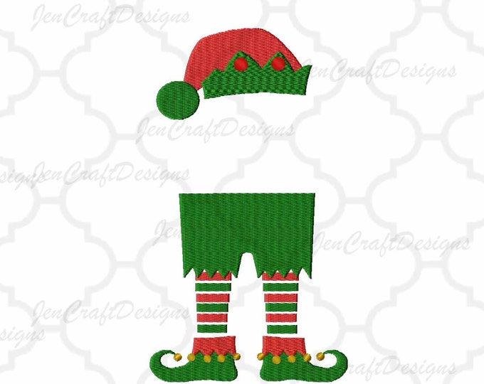 Boy Elf legs Monogram Frame Embroidery Design Machine Embroidery Design Instant Download digital file in PES, EXP, VIP, Hus, Xxx and Jef