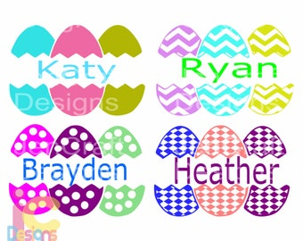 Easter svg, Monogram Split Easter Eggs SVG, Spring, Bunny, Easter Basket Frames Svg, DXF, EPS, Png,  digital download Silhouette Cricut