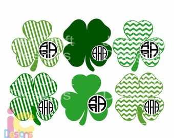 St. Patrick's Day svg Shamrock svg Monogram leprechaun svg Design St Paddy's Day Monogram SVG Cut Design,svg,dxf,png Silhouette & Cricut
