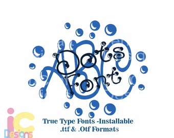 Install True Type Monogram Dot Font in True Type format .TTF & .OTF Installable Font for Cricut, Design Space, Microsoft Word and more