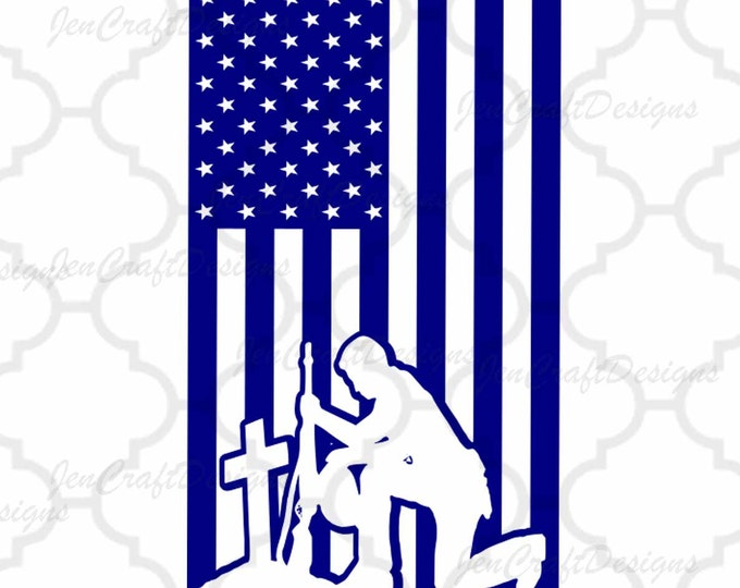 American Flag With Military Silhouette, USA 4th of July svg, Memorial Day Cricut Silhouette, Die Cut Machines. Svg, Dxf, Eps, Png, Ai, Jpg