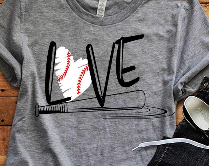 Baseball SVG, Basbeball love svg design, Softball baseball mom SVG, live love baseball baseball love cut file, baseball sister svg, dxf eps