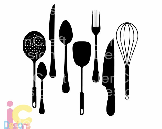 Kitchen SVG, Utensils Farmhouse country sign design svg Cut File Set in Svg, eps, dxf and PNG Format for Cricut and Silhouette
