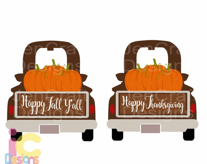 Thanksgiving svg, Fall Pumpkin Antique Truck SVG Pumpkin svg Vintage classic truck svg, DXF, pdf, eps, png Silhouette, Cricut Cut Files