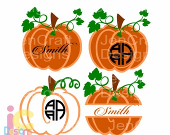 Thanksgiving svg Fall Pumpkin SVG Monogram Frame SVG Autumn Thanksgiving svg Fall svg, harvest svg, DXF, Eps, Png silhouette Cricut