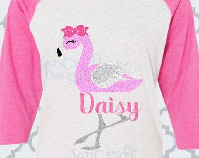 Flamingo Svg Split Monogram Frame Svg, Summer Svg, Kids svg, Beach SVG, DXF, Eps, Png, Flamingo Shirt Design, girls svg, Cricut, Silhouette