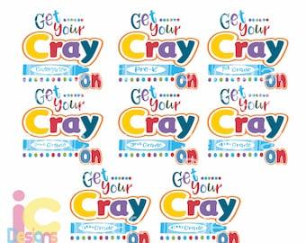 School svg Get Your Cray On svg Bundle Grades Prek-6th Svg 100th Day of School Last Day digital design Back to School SVG EPS DXF Png