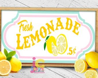 Lemonade SVG,  Lemon Svg, Fresh lemonade stand sign art Cut file Sublimation Print Summer svg Cricut Silhouette SVG Eps Dxf Png