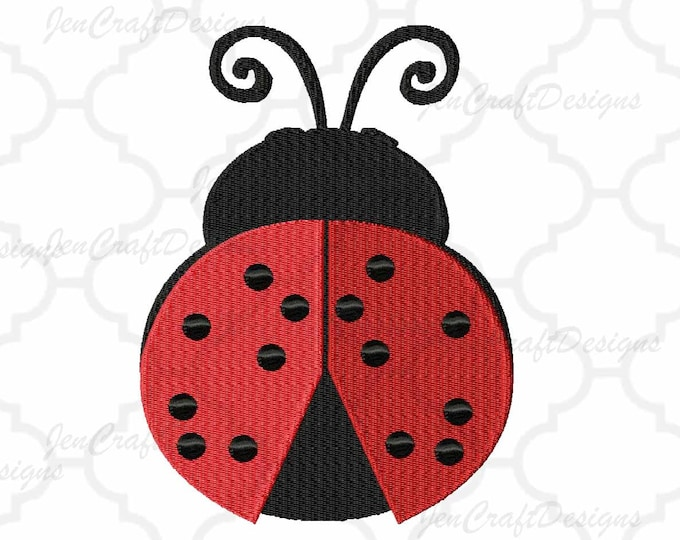 Ladybug Embroidery pattern, INSTANT DOWNLOAD digital file in Pes, Exp, Vip, Hus, XXX and Jef