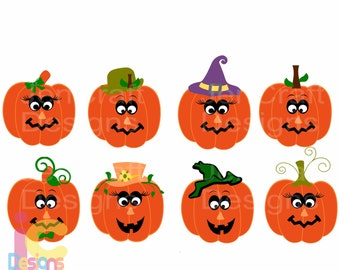 Cute Pumpkin svg Funny face SVG Halloween witch pumpkin Fall Svg File digital cut file Pumpkin svg, DXF, Eps, Png, Instant Download