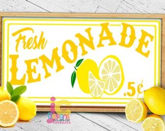 fresh Lemonade SVG,  Lemon Svg, lemonade stand sign art Cut file Sublimation Printable Summer svg Cricut Silhouette SVG Eps Dxf Png