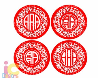 Valentines Monogram svg, Valentine's Day Svg, Heart Round Monogram Frame SVG EPS Png DXF, Cricut, Silhouette Studio, Digital Cut Files