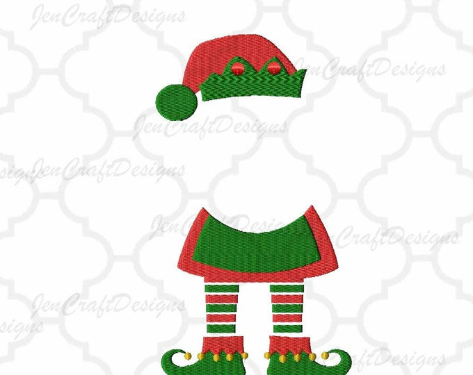 Girl Elf legs Monogram Frame Embroidery Design Machine Embroidery Design Instant Download digital file in PES, EXP, VIP, Hus, Xxx and Jef