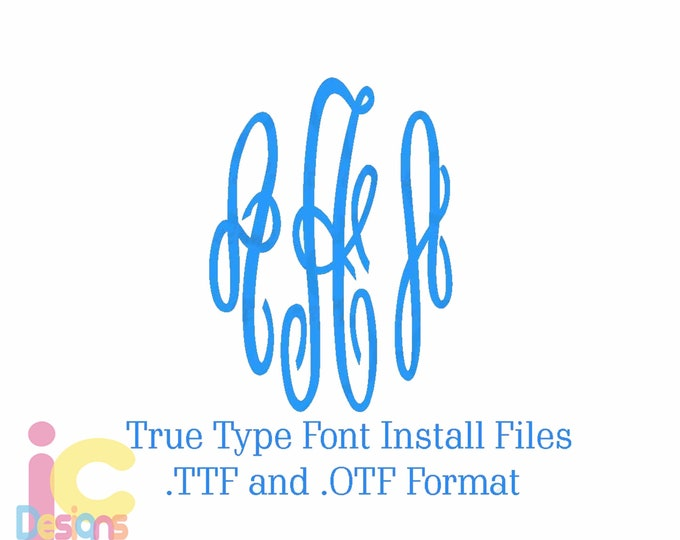 Master Circle True Type Empress Installable Monogram Font in .TTF & .OTF Font typable font  Cricut Silhouette Microsoft Word and more