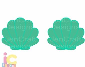 Seashell svg, Mermaid Shells SVG, Summer Ocean Beach Sea Shells Svg Dxf Eps, png, jpg Cricut, Silhouette, Vector Digital Cut Files