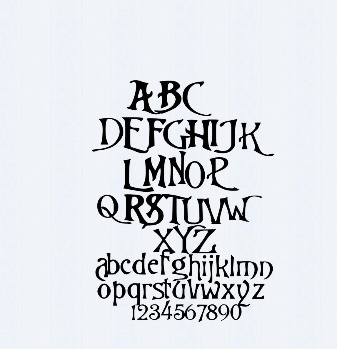 Nightmare Christmas SVG Font, Digital Alphabet, SVG Letters,Svg Dxf ...
