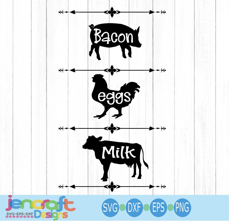 Bacon Eggs Milk svg, Cow SVG, Pig SVG, en SVG, farm svg ... on farm house designs, country estate designs, country farm house, country shabby chic designs, country garage designs,