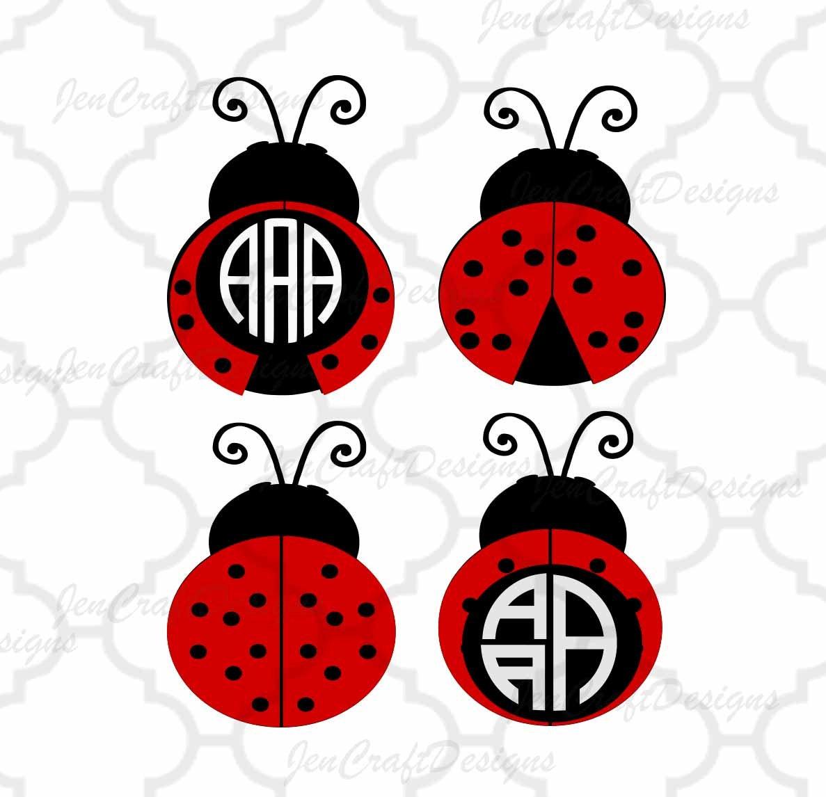 Ladybug SVG Frames, lady bug summer svg beetle Svg Cut Files, svg ...
