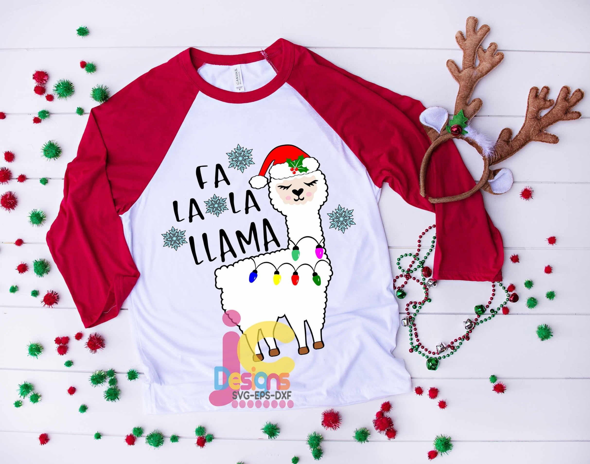 Fa La La Llama Christmas Svg Llama Svg Alpaca Svg Cute Svg Etsy
