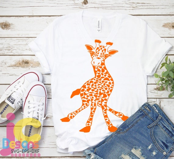 Giraffe Svg Giraffe Svg Cut Files Fun Svg Safari Svg Kids Etsy