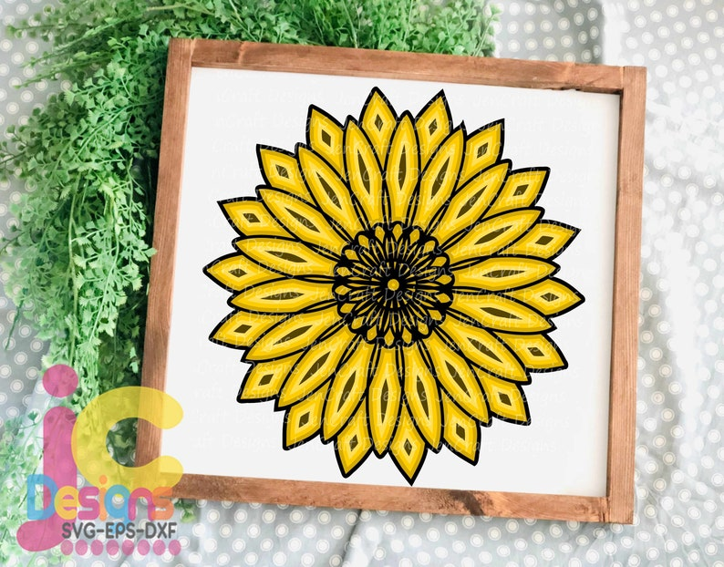 Download Sunflower SVG 3D Mandala Layered Mandala svg Cricut | Etsy