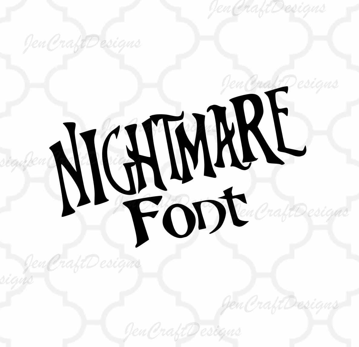 Nightmare Christmas SVG Font Digital Alphabet SVG   Etsy
