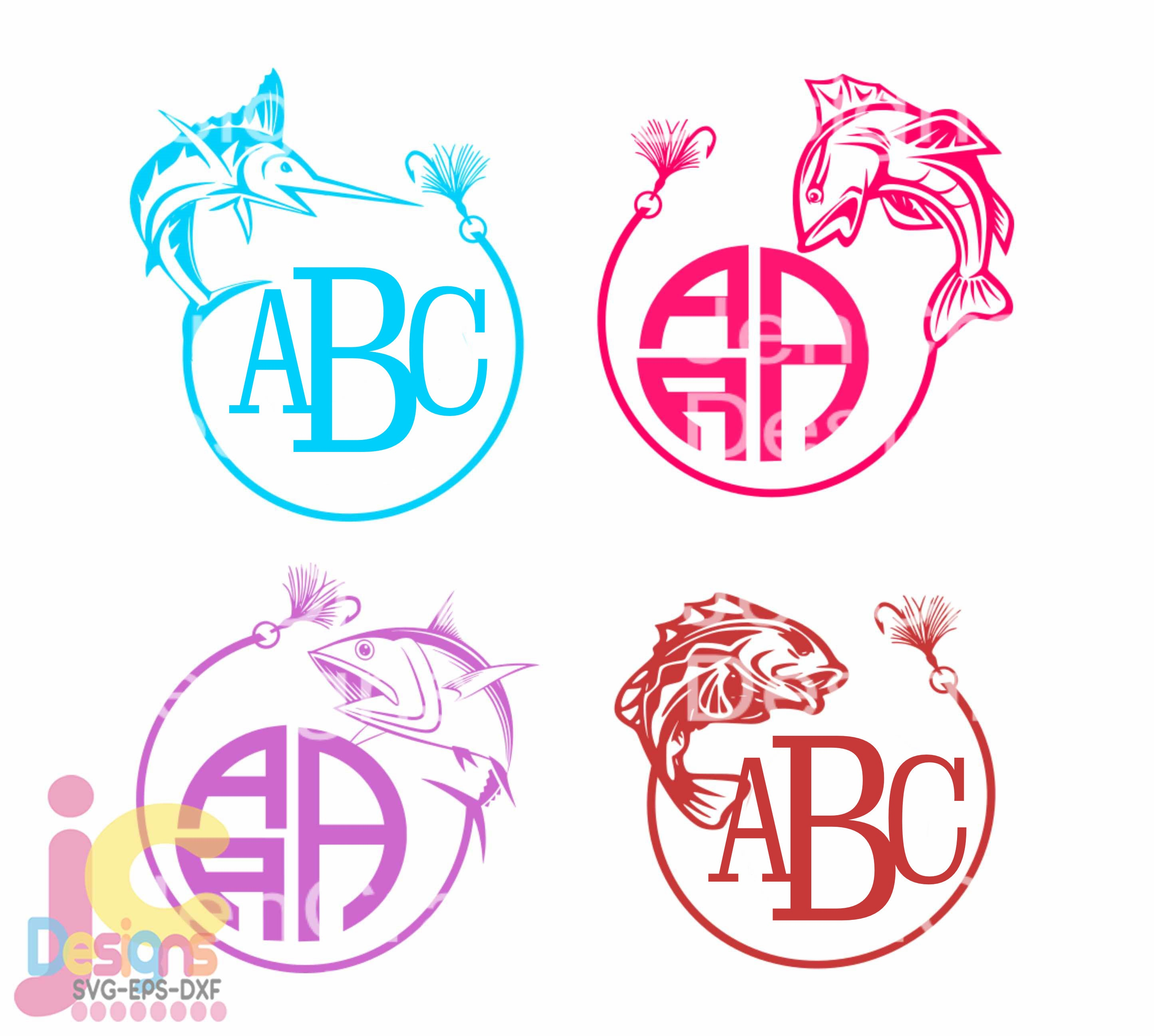 Download Fish Svg Fishing Monogram Frames Fathers Day Hunting And Fishing Design Bundle Svg Cricut Silhouette Father Dad Hunting Sports