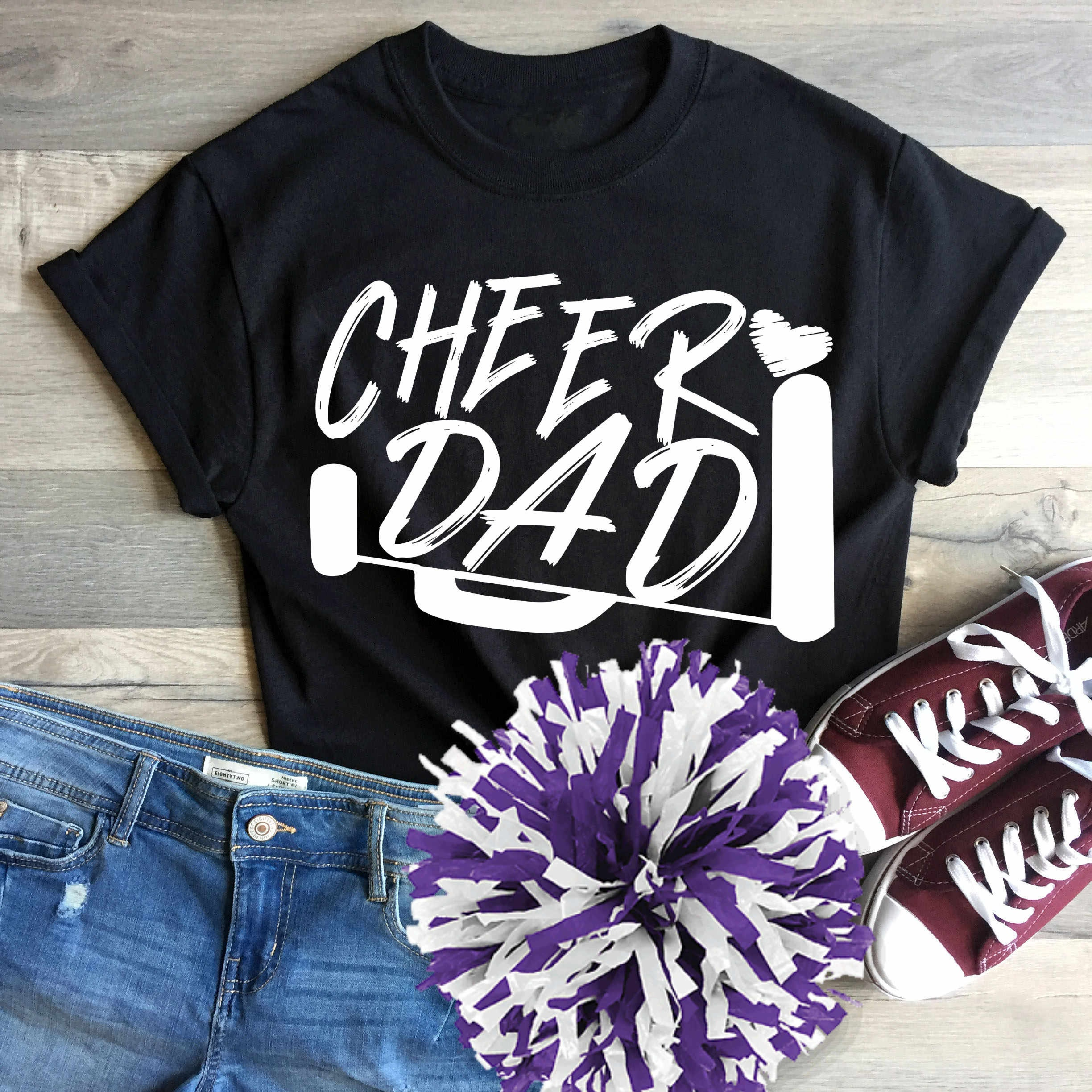 Cheer Dad Svg Cheer Svg Biggest Fan Megaphone Svg Coach Cheer Svg Design Cut File Cheerleader Clipart Eps Dxf Png Cricut Silhouette
