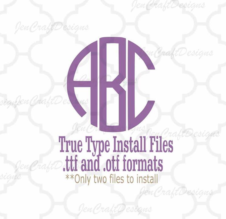 Round Monogram Font In True Type Format Ttf Otf Etsy