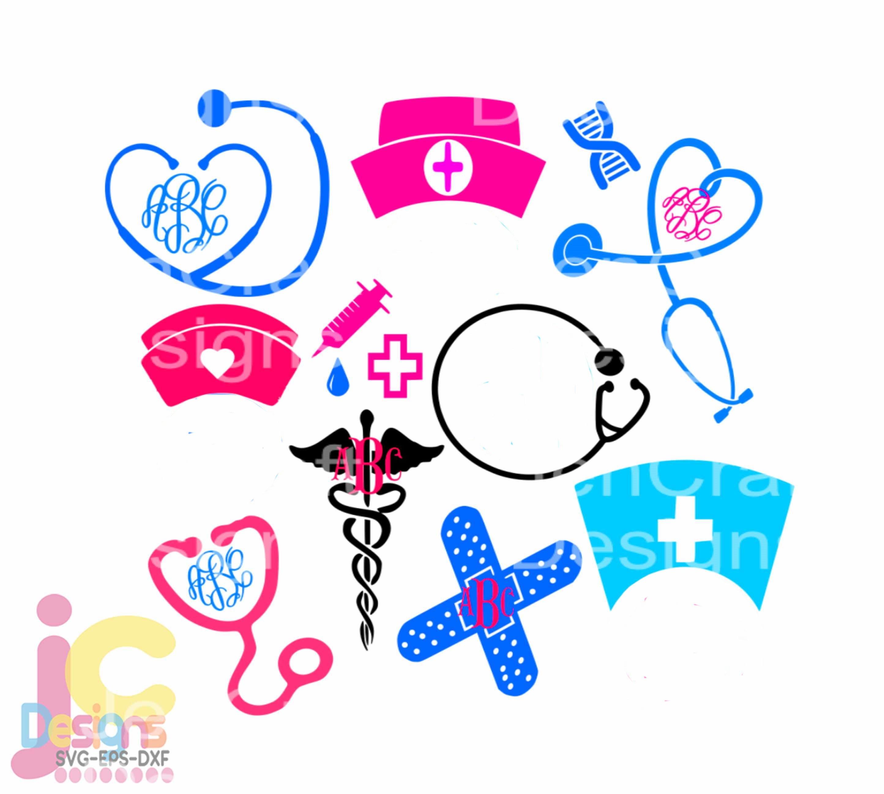 Nurse Svg Stethoscope Svg Nursing Life Svg Rn Svg Eps Png Dxf Shirt Design Cricut Design Space Silhouette Digital Cut Files
