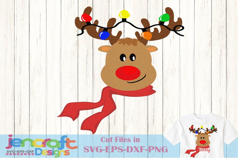 Reindeer Monogram Svg Peeping Reindeer Peeking Svg Eps