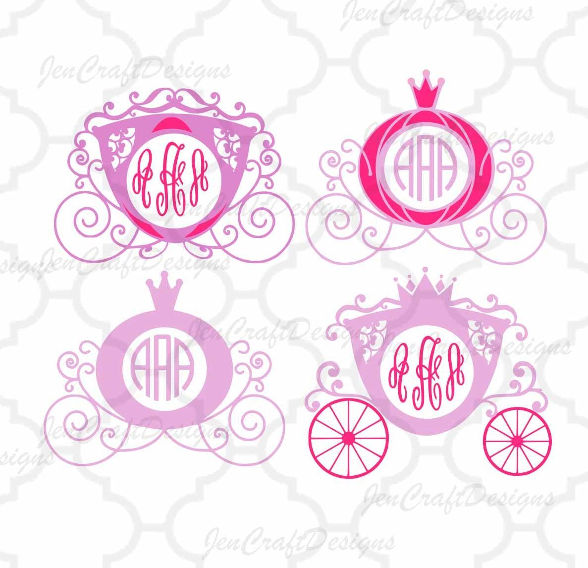 Princess Carriage SVG, Cinderella Carriage SVG,eps,dxf,png Princess ...